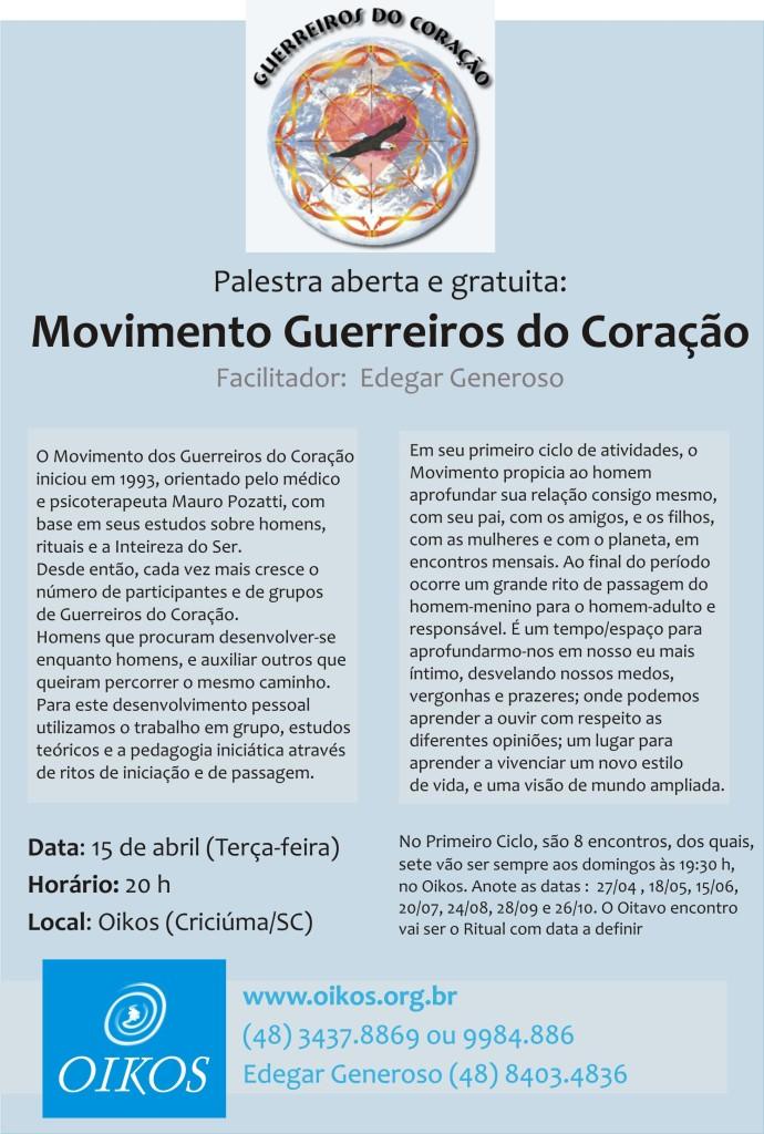 Movimento Guerreiros do Coracao: por homens mais inteiros